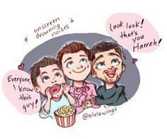Awww my heart😫😫😭😭😭 One Direction Fan Art, One Direction Cartoons, One Direction Drawings, One Direction Photos, One Direction Memes, Love Drawings, Cartoon Drawings, Art Drawings, Harry Edward Styles