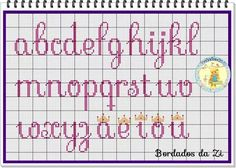Ideas Embroidery Letters Alphabet Needlepoint For 2019 Cross Stitch Letter Patterns, Cross Stitch Letters, Stitch Patterns, Cross Stitch Font, Embroidery Letters, Embroidery Patterns Free, Cross Stitching, Cross Stitch Embroidery, Crochet Cross