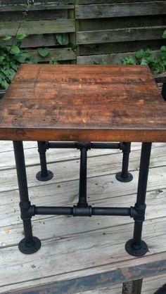Modern Industrial Coffee Table Reclaimed Barnwood With Steel Pipe Legs Via Etsy