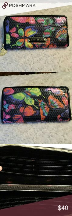 Betsy Johnson Gorgeous Sequined Wallet Betsy Johnson Multicolored Sequined Wallet / Lots of slots &  Zippered change pocket  Good condition Bags Wallets