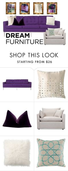 """""""Dream Furniture"""" by cherieaustin ❤ liked on Polyvore featuring interior, interiors, interior design, home, home decor, interior decorating, Somette, By Caprice, Volo Design and Pottery Barn"""