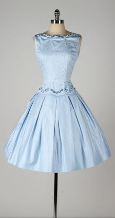 vintage 1950s dress . TEENA PAIGE . dead by millstreetvintage