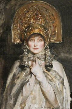 Violet Lindsay, Duchess of Rutland, 1918 by James Jebusa Shannon (1862-1923) Shannon was born in New York but made his career in London, becoming a member of the Royal Academy in 1909 and receiving a Knigthood in 1922.
