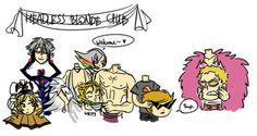 Headless blond club