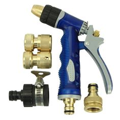 High Pressure Water Spray Nozzle Set For Car Wash Garden Watering