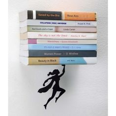 A wonderwoman character seems to be floating on air and still carrying the heavy weight of your books. This is a special bookshelf that gives a feeling it is floating on air. Excellent gift idea for Nerds, Geeks, superheroes fans, women and feminists of both sexes.