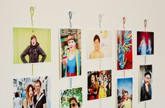 Use a magnetic rope to hang your wedding photos.