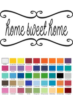 HOME SWEET HOME VINYL WALL QUOTE Custom Vinyl Wall Decals, Vinyl Wall Quotes, Temporary Housing, How To Remove, How To Apply, Small Quotes, Sweet Home, Walls, Design