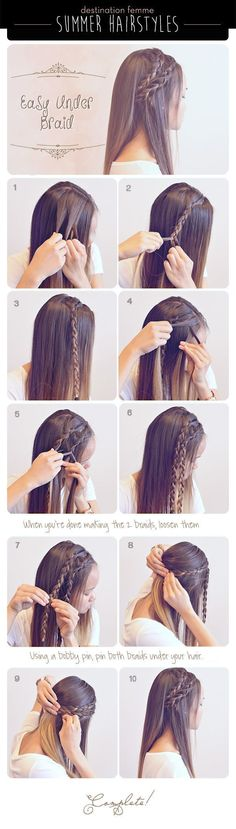 nice Summer Braid Hairstyle For Summer summer long hair braids diy hair hair tutorial hairstyles hair tutorials easy hairstyles by http://www.best-hairstyleshaircuts.xyz/