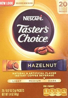Nescafe Taster's Choice Instant Coffee Hazelnut, 20-Count Sticks, (Pack Of 2) * Click on the image for additional details.