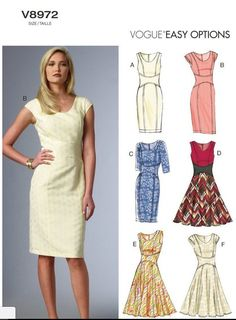 Dress making is easy with Simplicity, McCalls, Vogue, Butterick & Kwik Sew patterns. Buy a variety of sewing patterns at the JOANN sewing store. Vogue Patterns, Easy Sewing Patterns, Clothing Patterns, Skirt Patterns, Coat Patterns, Blouse Patterns, Miss Dress, Sewing Clothes, Sewing Coat