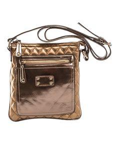 Look at this #zulilyfind! Bronze Emet Crossbody Bag #zulilyfinds