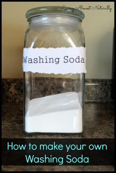 how to make your own washing soda (I want to research this and see if that's the chemical reaction that occurs.)