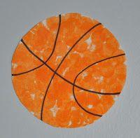 Sports week basketball painting