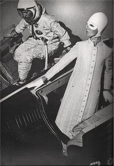 mirrormaskcamera: St. Louis Night in Space, Ben Zuckerman in Gemini Spacecraft, Adolfo Helmet, 1965 ( Space Age / Atomica Age / Retro Futurism / Vintage photograph / mod )