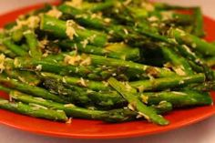 Grilled Asparagus with Double Lemon and Parmesan from Kalyns Kitchen
