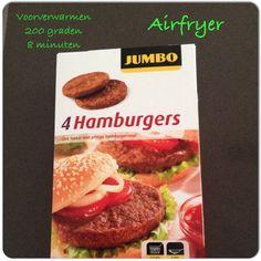 Diepvrieshamburgers in de Airfryer