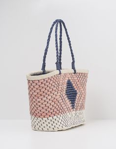 Bolso shopper rafia | Blanco
