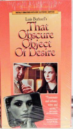That Obscure Object Of Desire (1977 film, 1994 Home Vision Release) Luis Bunuel Cult Film; Fernando Rey, Carole Bouquet, Angela Molina