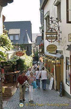 Rudesheim, Germany, on the Rhine River.