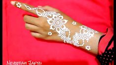 ᴴᴰ Cute White Henna Designs White Henna Tattoo, Lotus Tattoo, Mandala Tattoo, Mehndi Art, Henna Mehndi, Henna Art, Henna Designs, Tattoo Designs, Henna Cones
