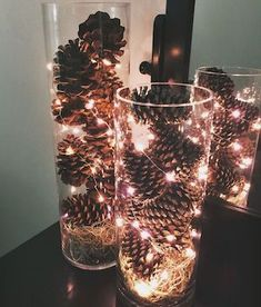 holiday Decorations simple - Creative Christmas Centerpieces Ideas That You Must See Farmhouse Christmas Decor, Rustic Christmas, Christmas Home, Christmas Bulbs, Christmas Crafts, Elegant Christmas, Beautiful Christmas, How To Decorate For Christmas, Christmas Gift Ideas