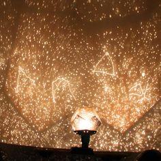New Fantastic Celestial Star Projector Lamp Night Light Funny DIY Romantic Valentine's Day Gift