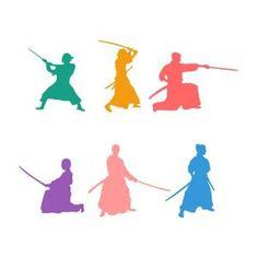 Japanese Warrior Samurai Silhouette SVG Cuttable Design