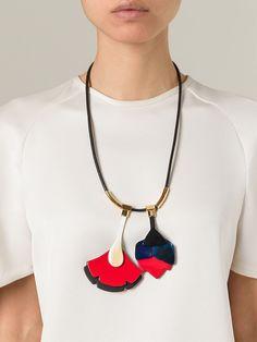Marni Flower Pendant Necklace - Luisa World - Farfetch.com £360.00