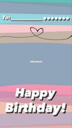 Bio Instagram, Instagram Editing Apps, Instagram Quotes, Creative Instagram Photo Ideas, Ideas For Instagram Photos, Instagram Story Ideas, Birthday Captions Instagram, Birthday Post Instagram, Happy Birthday Template
