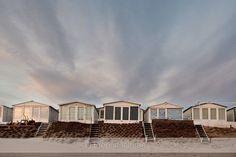 Beachhouses at Bloemendaal, The Netherlands