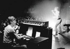 Accompanying Iggy on the Idiot World tour, 1977.