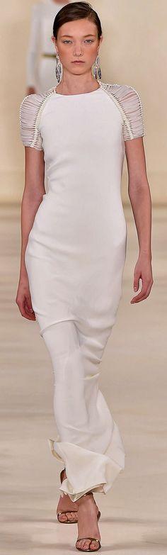 Rosamaria G Frangini   White Desire   AllThingsWHITE   Ralph Lauren Ready To Wear Spring 2015
