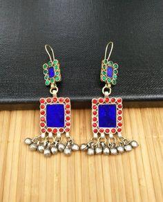 Vintage Handmade Earrings Afghan Kuchi Tribal Jewelry Boho Gypsy Hippie Belly Dancing Hoop Earrings Antique Indian Ethnic Banjara Earrings. by RareFindingsUS on Etsy