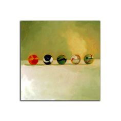 Print Marbles 10B from original painting 8x8 by vankale on Etsy, $15.00