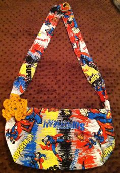 Save Sparky Handmade Purse Medium Superman by SaveSparky on Etsy, $25.00
