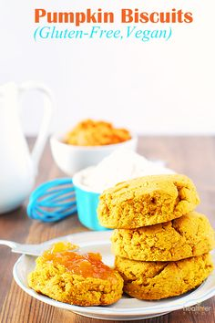 These pumpkin biscuits taste so good, they have a lovely texture, not dense but just right. Use coconut sugar so they aren't overly sweet!