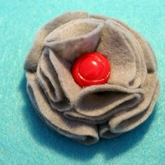 Cute felt pin with button