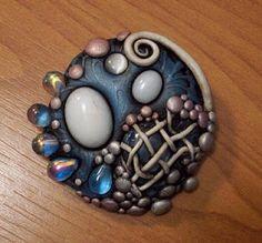 Mandarin Moon Brooch.