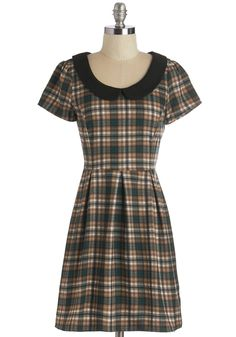Record Time Dress in Plaid