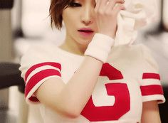 Ga In Brown Eyed Girls Abracadabra Sexy Red and White Psy Gentleman GIF