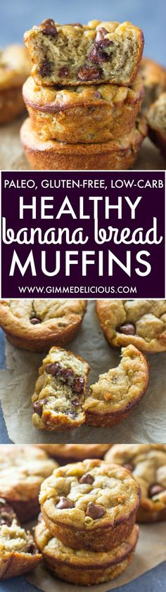 Low Carb Recipes To The Prism Weight Reduction Program The Best Paleo Banana Bread Muffins Gluten-Free, Low-Carb Gimme Delicious Dessert Sans Gluten, Bon Dessert, Paleo Dessert, Dinner Dessert, Gluten Free Muffins, Gluten Free Recipes, Low Carb Recipes, Healthy Recipes, Snacks Recipes