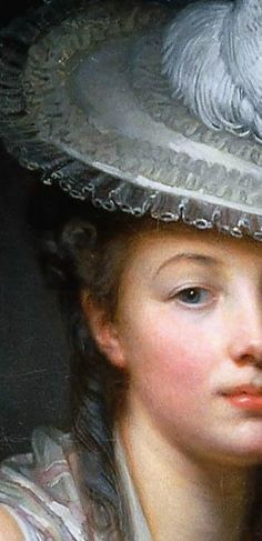 "The gorgeous ""Young Woman in a White Hat,"" 1780. Oil on canvas. By Grueze.#18thcentury #history #arthistory"