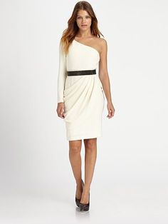Alice + Olivia - Maryellen One-Shoulder Dress - Saks.com: Is the full arm too weird?