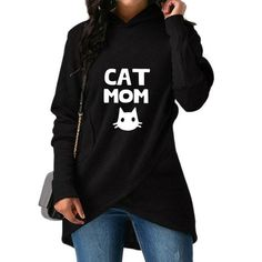 Womens Long Sleeve Crop Top Hoodies This is How I Roll Cat Ear Lumbar Hoodie Pullover Sweater