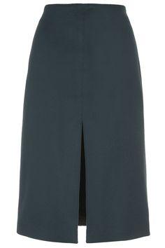 Melton Wool Split Skirt by Boutique