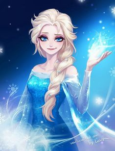 Elsa the Snow Queen - Frozen (Disney) - Image - Zerochan Anime Image Board Anime Disney Princess, Frozen Disney, Anime Princesse Disney, All Disney Princesses, Frozen Art, Film Disney, Disney Fan Art, Elsa Frozen, Frozen Anime