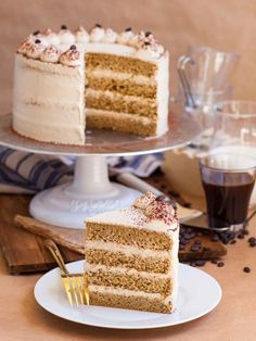 Coffee Tres Leches Cake (video) – Tatyanas Everyday Food – Rebel Without Applause Coffee Sponge Cake, Coffee Cake, Tatyana's Everyday Food, Flavored Milk, Moist Cakes, Savoury Cake, Coffee Recipes, Let Them Eat Cake, Cupcake Cakes