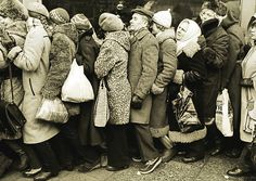 """Shop Queue in Communist Poland""  Poland, early 1980s"