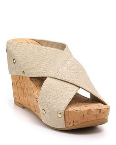 "Lucky Brand ""Miller2"" Cork Wedges... these look so much cuter on than in picture.... An sooooo comfortable!!!!"